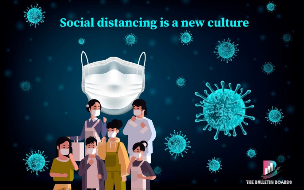 social distancing, the bulletin boards