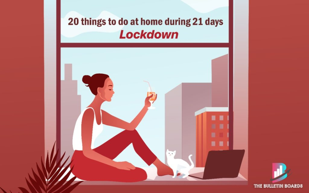 20 thing to do at home, lockdown, the bulletin boards